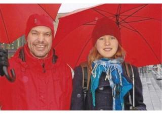 Gernot Gruber mit Tochter