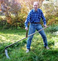 Gernot Gruber im Garten