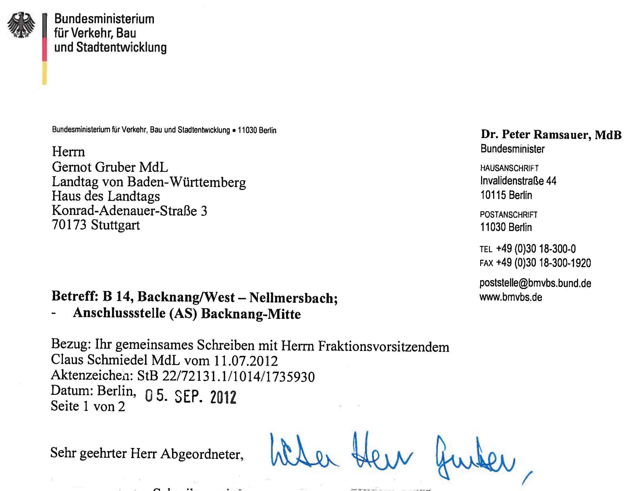 Briefumschlag Beschriften Dr : B anschluss mitte ramsauer antwortet schmiedel und